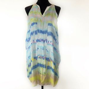 Chaiken Dress 4 New Layered Silk Brushs Watercolor